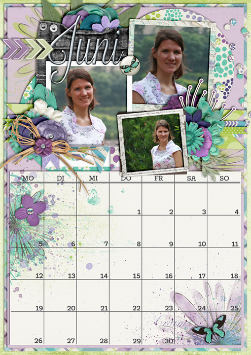 calendar 2017, digital scrapbook layout, mistyhilltops.com