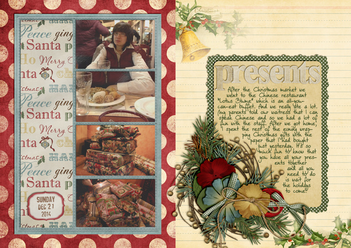 december daily, document christmas, digital scrapbooking, mini album
