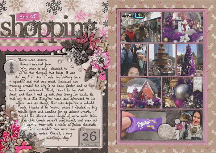 december daily, document christmas, digital scrapbook album