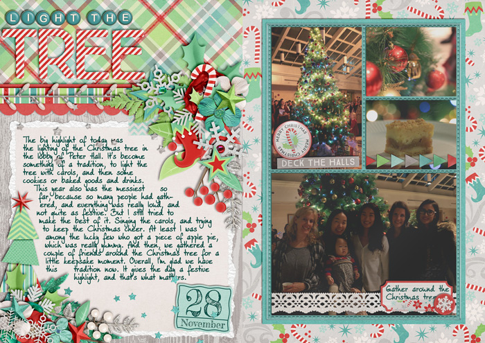 document christmas, december daily album, digital scrapbook album, misty hilltops designs