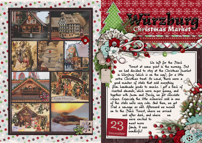 document christmas, december daily, mini album, weihnachtsalbum