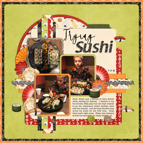 Trying Sushi