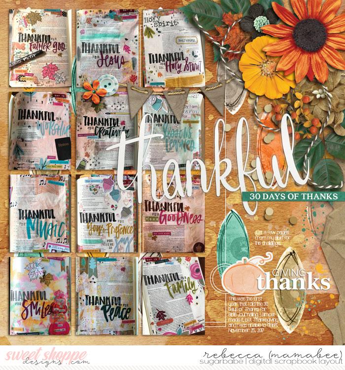 Bible Journaling - 30 days of thanks