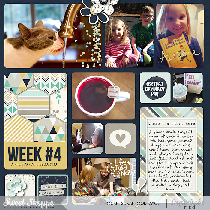 Project Life 2015 Week 4 Left