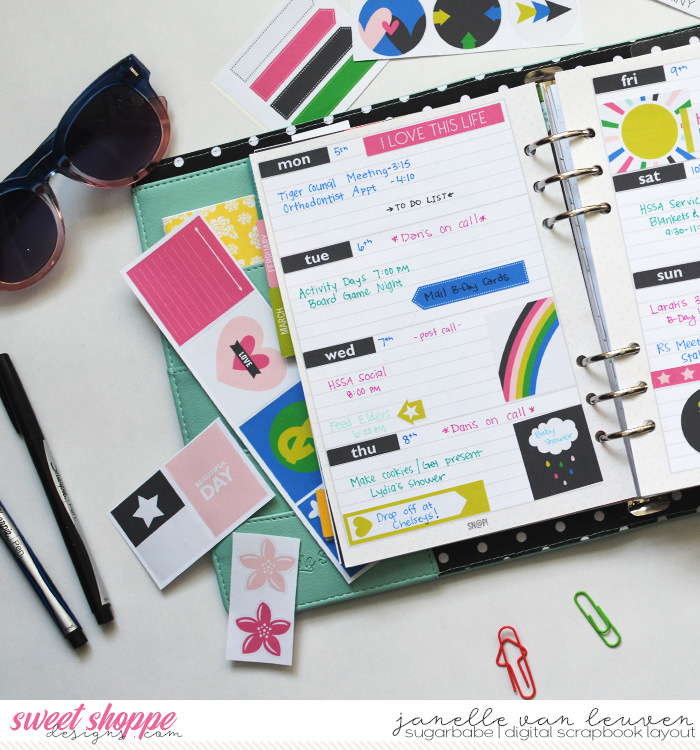 Beautiful Day Planner Spread