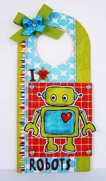 I {heart} Robots - Door Hanger