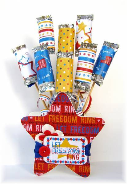 4th of July Candy Bouquet