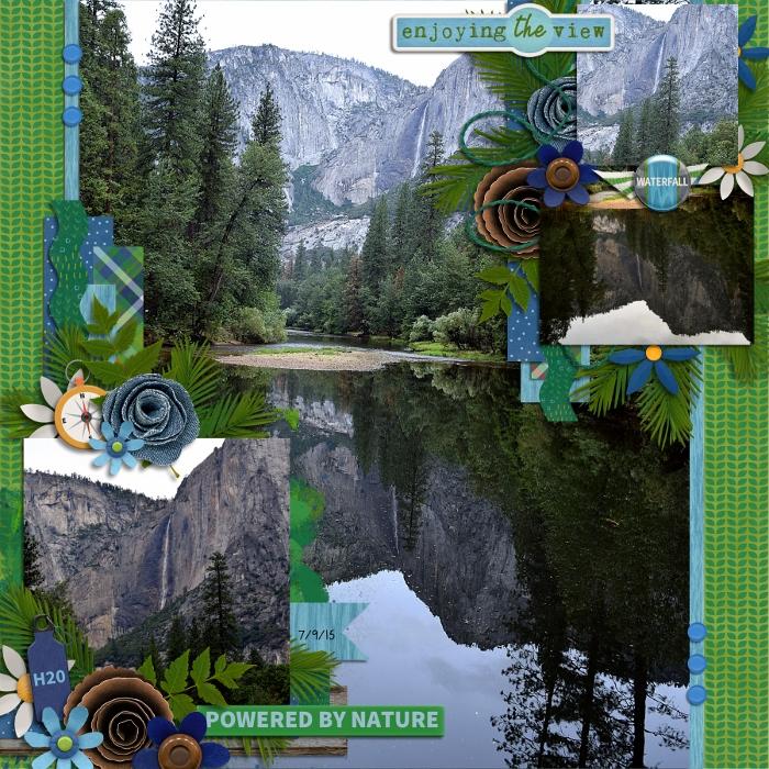 Mirrored Yosemite Falls