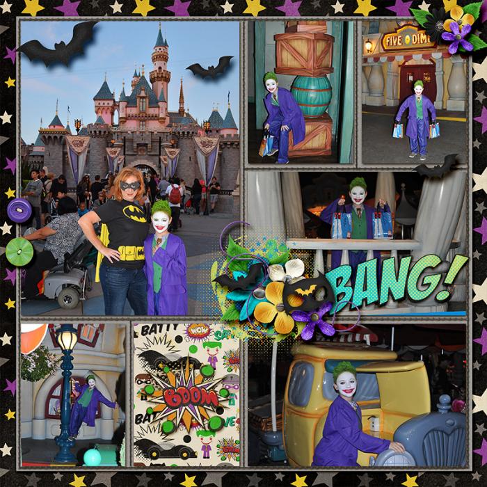 Halloween with the Joker left