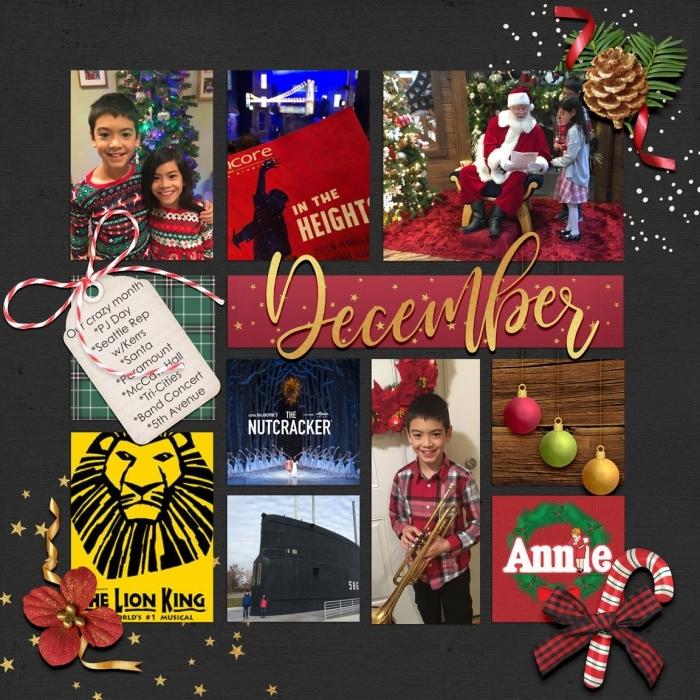 Dec 2018 Bingo #6 Daily Dec