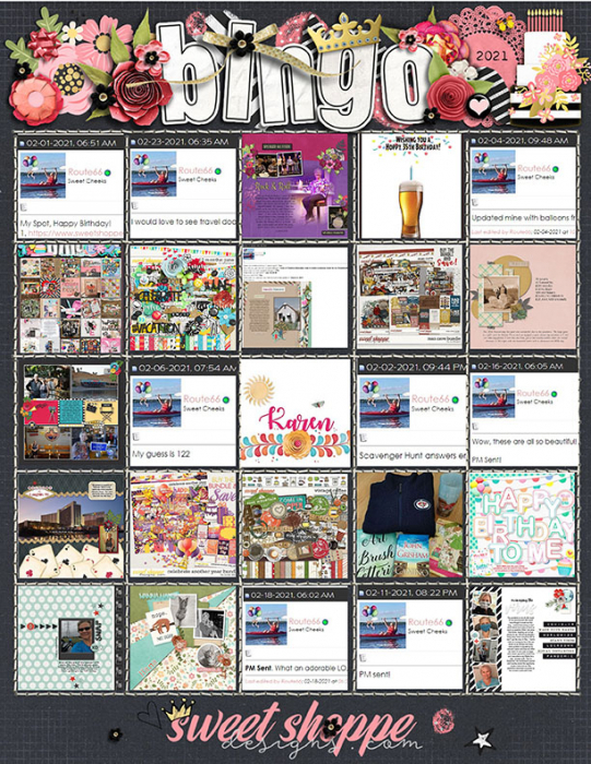 Sweet Shoppe Bingo 2021