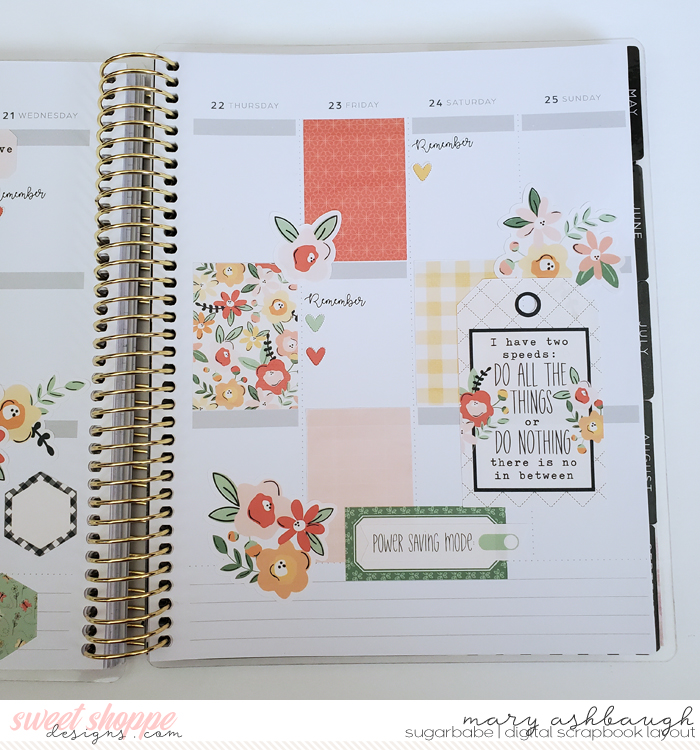 Planner Right Side