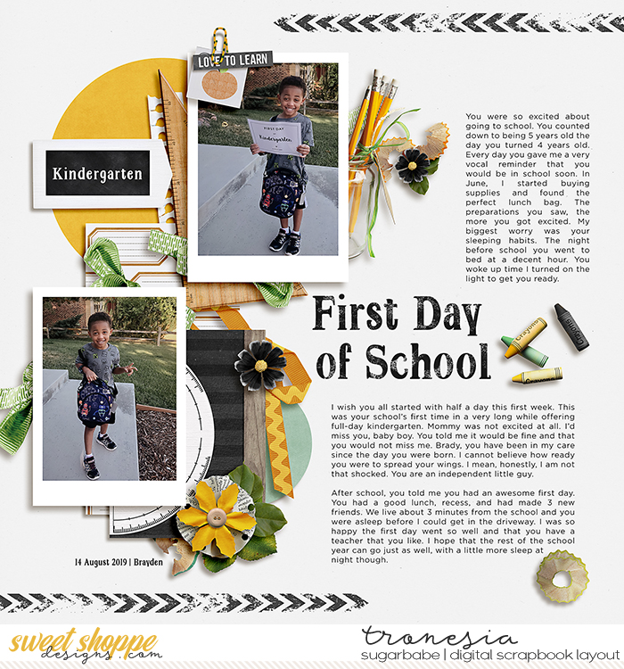 His First Day of K5