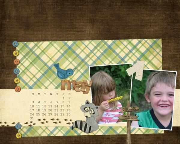 May 2009 Desktop Calendar