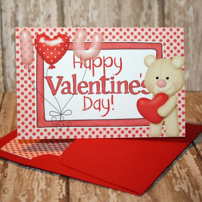 Valentine's Day card with matching envie