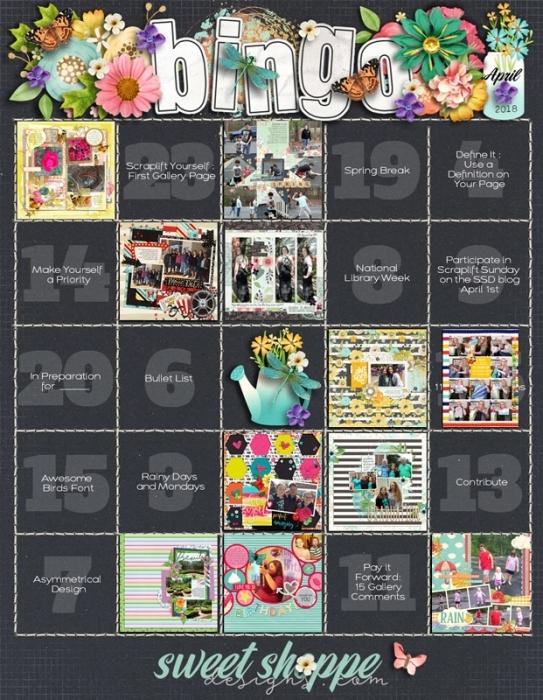 April 2018 Bingo