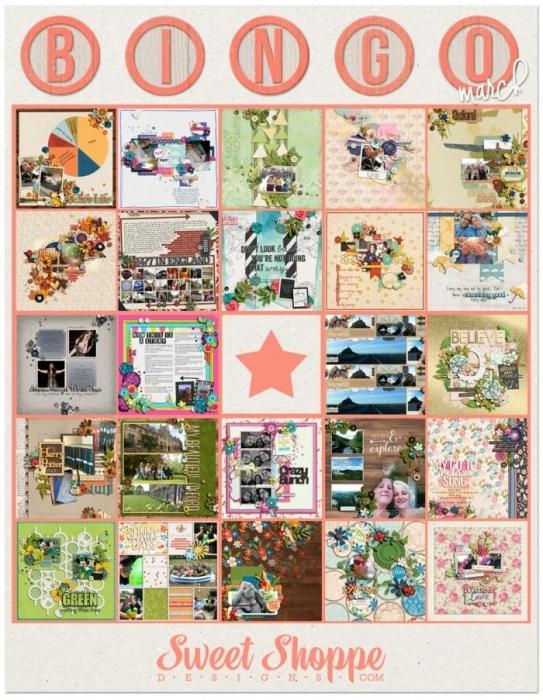 Finished Bingo Card
