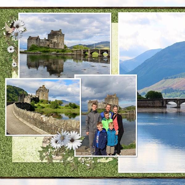 Eilean Donan Castle Left