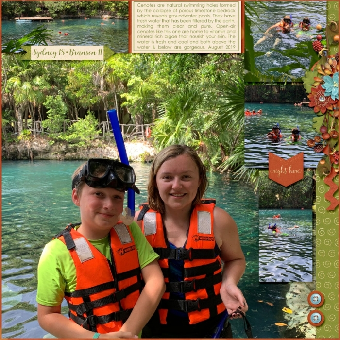 Mexico Cenote Right Page