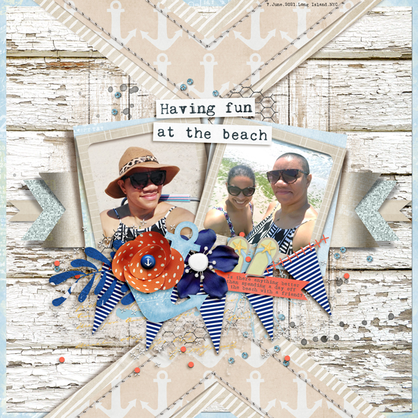 The Nifty Pixel - Chevron Bliss - Beach Day